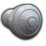 STAMINA Plastic Dumbbell 4kg [ST-800-4S] - Silver - Barbell / Dumbbell